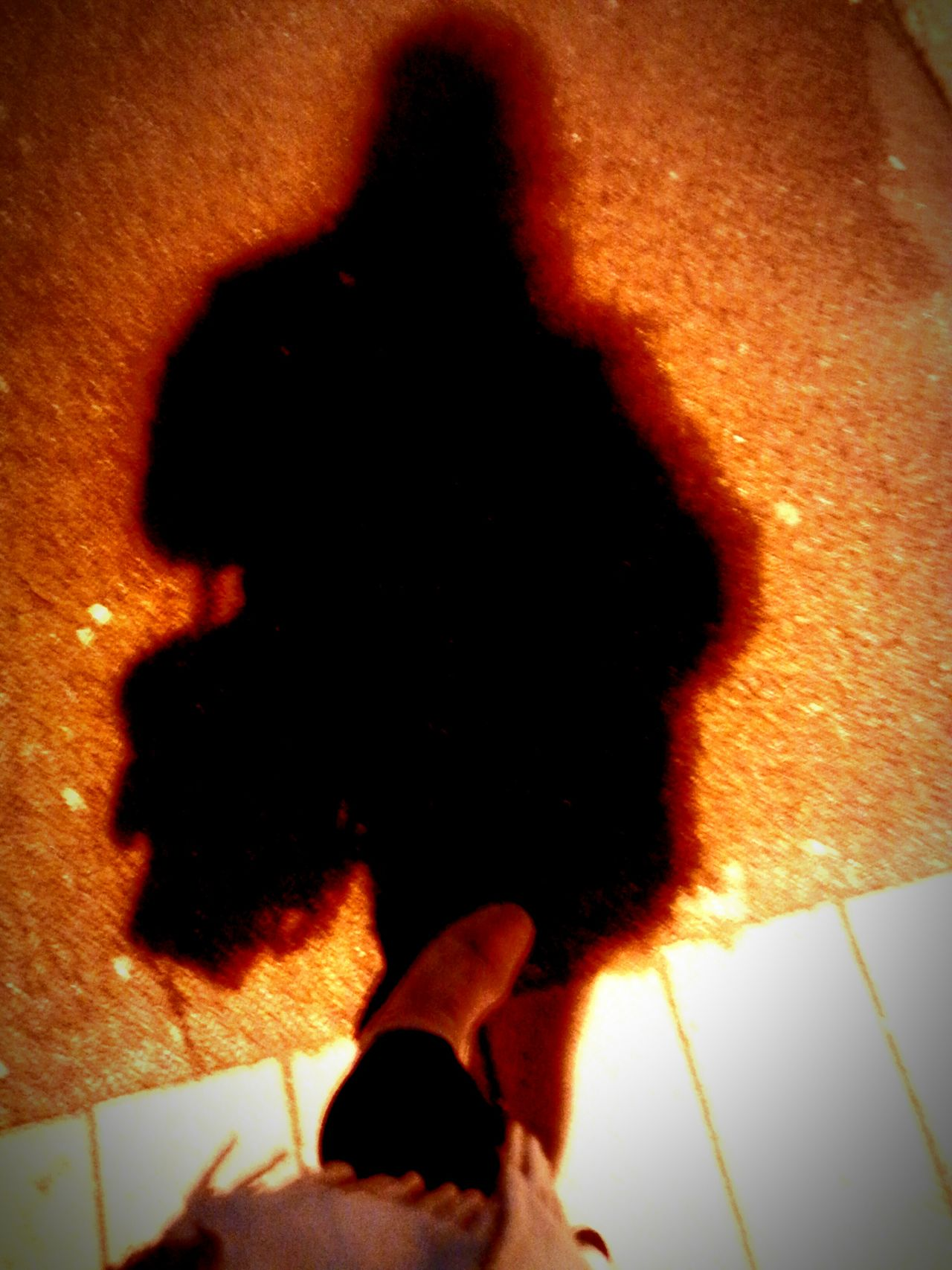 Creative Light And Shadow Glowing In The Dark Aura One Foot On The Ground My Dark Side  Shadow Pavement Statement