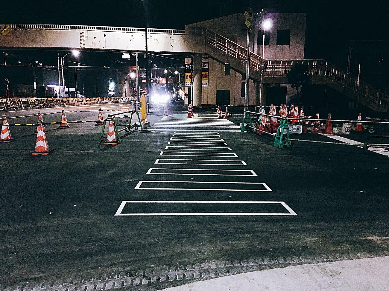 工事中(新しく交差点が生まれる) Road Construction Crossroads Intersection Early Morning Streetphoto_color Streetphotography Street Photography