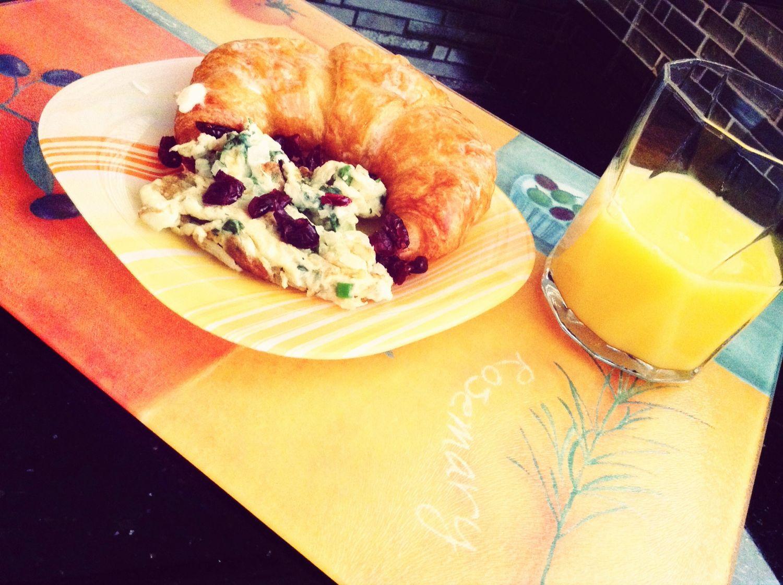The EyeEm Breakfast Club Croissants Orange Juice  Omellet