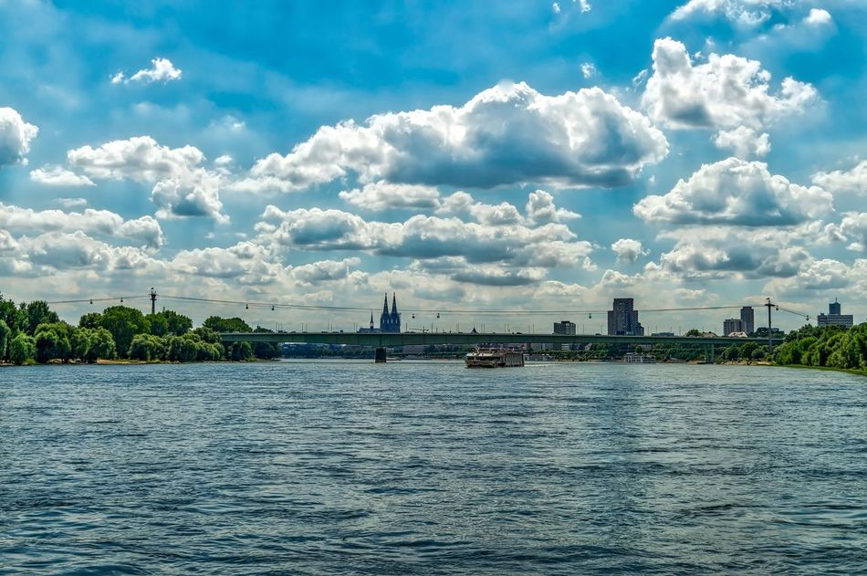 Cologne Cologne , Köln,  Köln Cityscapes Cityscape Dom Cathedral Cologne Cathedral Colognecathedral Kölner Dom Kölnerdom Rhein Rhine Rhine River Rheinschifffahrt Boat Transportation The Great Outdoors - 2016 EyeEm Awards Outdoors Boatride Bootsfahrt Tvtower