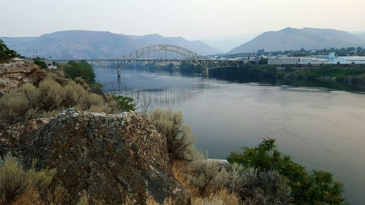 River Bridge Water Reflections Mountain View Sagebrush Outdoors Eye Em Nature Lover AndroidPhotography