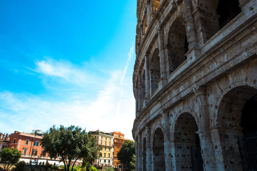 Ancient Architecture Colosseo Rome Ruins Ancient Architecture Ancient Civilization Architecture Building Exterior Built Structure City Cloud - Sky Colloseum Colosseum Day Go-west-photography.com History Italy Kolosseum Low Angle View No People Outdoors Ruin Sky Travel Destinations Tree
