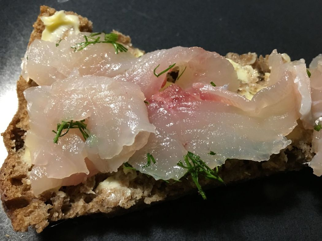 Close-up Day Delicatessen Food Food And Drink Freshness Healthy Eating Indoors  No People On Rye Bread Whitefish