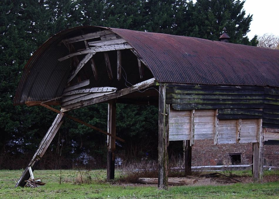 A building just hanging on, for how much longer I wonder Broken, Day Falling Down The Rabbit Hole Just Standing, Leaning, No People Outdoors Timber Wooden Building, Derelict, Rotting