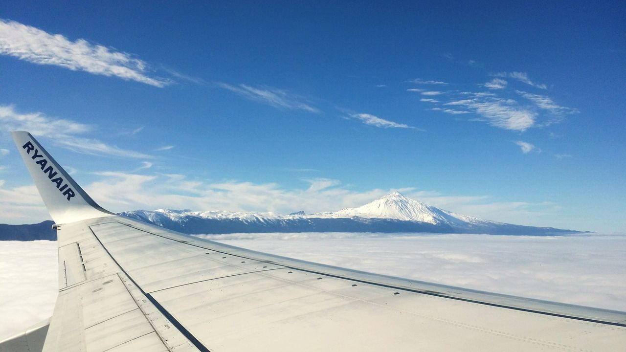 Teide❤ Tenerife Canarias Desde El Avion Nieve Espectacular