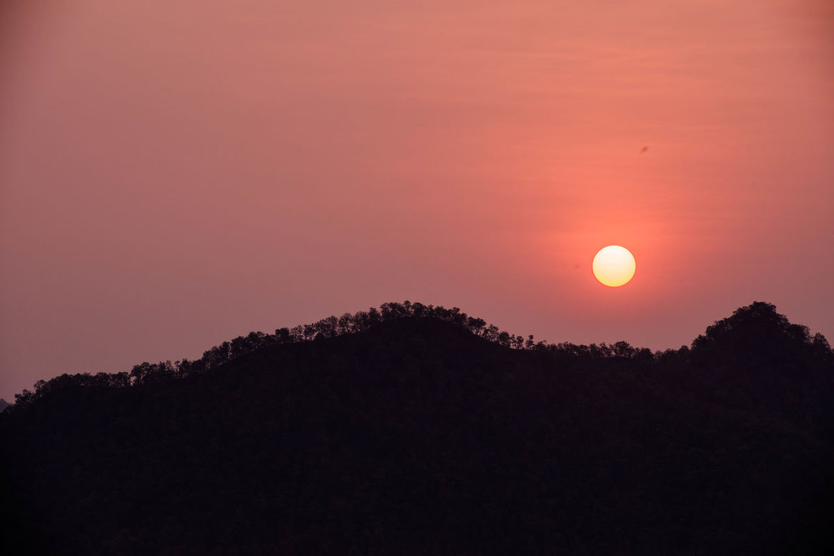 Beauty In Nature Chiang Khan Landscape Mountain Mountain Range Nature Sky Sunrise Thailand