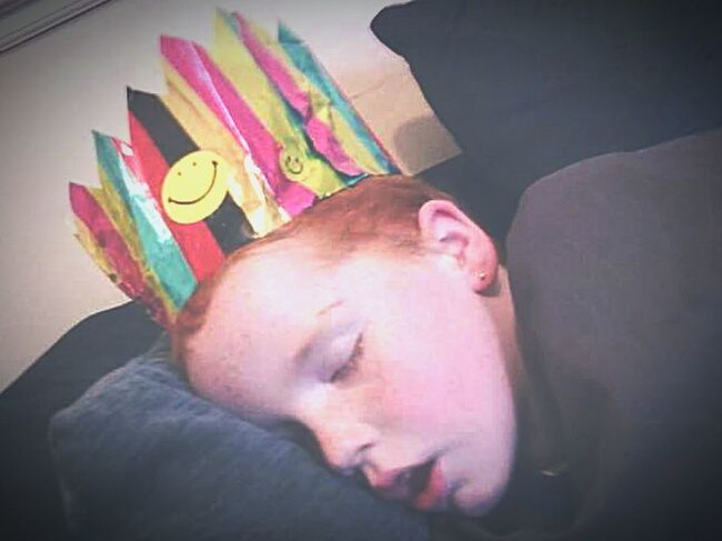 Relaxing Ginger My Son Zzzzzzzzz Outforthecount End Of The Party Sleeping Ssssssh
