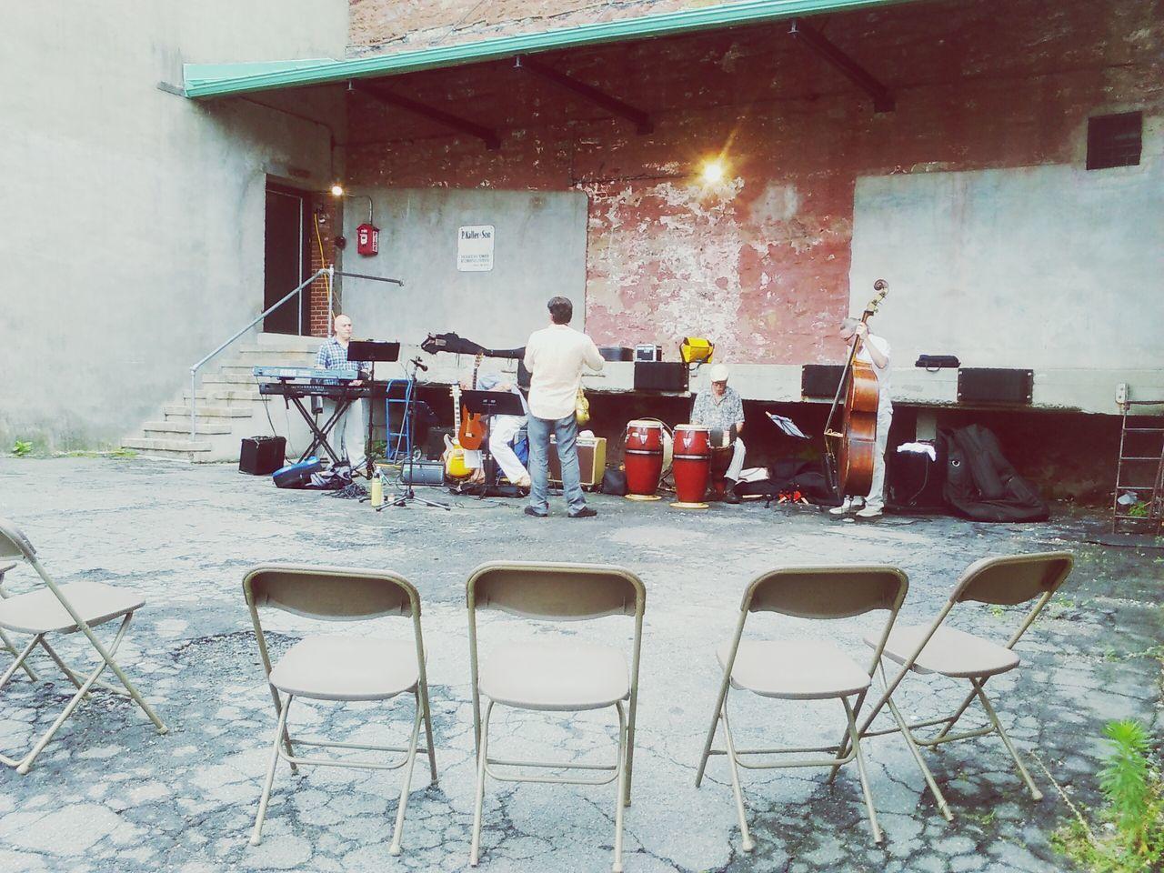 Jazz practice in the alley Music Free Concert Jazzy Alleyway