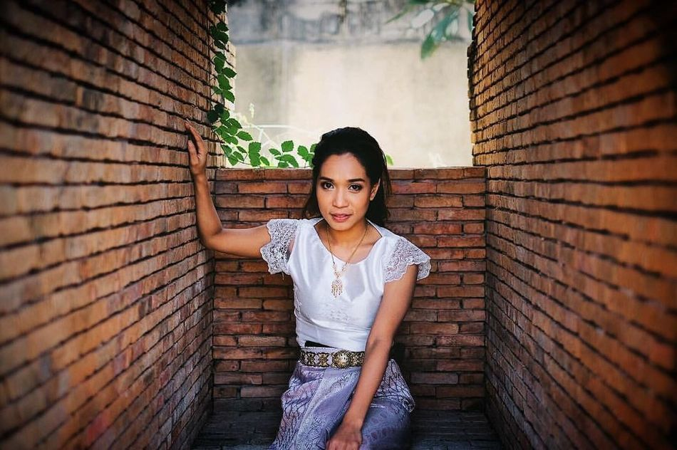 Brick Wall Lifestyles One Person Building Exterior Beauty Women Architecture People Outdoors Adult Young Adult Only Women Day Thaigirl Thaiculture Bridesmaid Thaibridesmate Thaistyle One Young Woman Only Close-up Human Body Part Beautiful Woman Adults Only Portrait Charin
