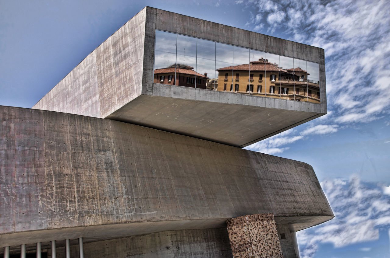 Architecture Blue Building Exterior Building Story Built Structure City Cloud - Sky Day High Section Low Angle View Maxxi Museum MAXXI Roma No People Outdoors Rom