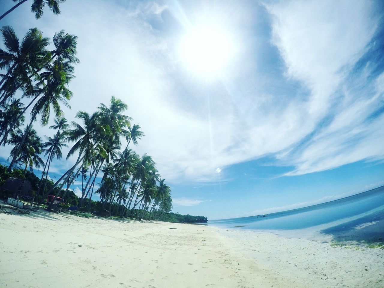 Paliton Beach San Juan Siquijor Philippines New Talent EyeEmNewHere First Eyeem Photo Eyeem Philippines Travel Travel Photography GoPro Hero 4 GoPrography Beach Nature Beauty In Nature Tree Sky Sea Sand Scenics Tranquility Sunlight No People Cloud - Sky Outdoors