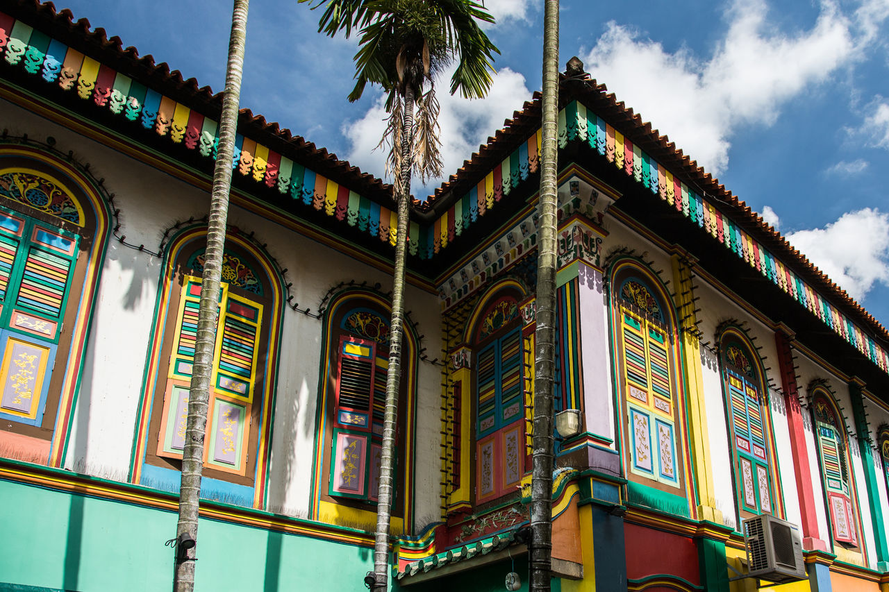 Architecture ASIA Asian Culture Built Structure Colourful Historical Building Multi Colored No People Outdoors Singapore Travel Wide Angle
