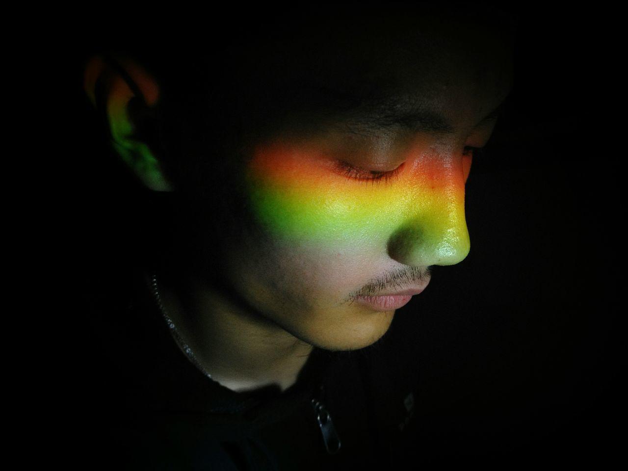 Beautiful stock photos of homosexuell, studio shot, headshot, one person, black background