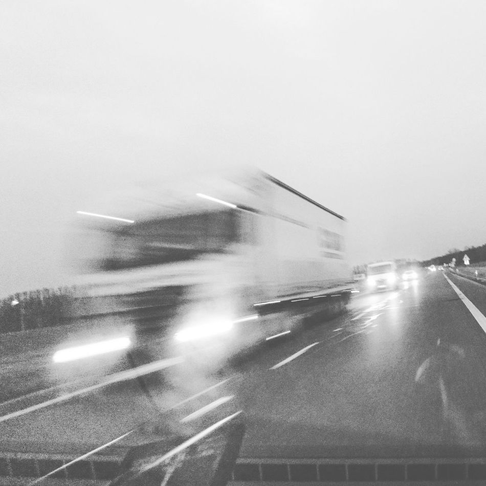 Airplane Car City Fog Highway Journey Land Vehicle Mode Of Transport Motion On The Move Public Transportation Road Road Marking Sky Street The Way Forward Transportation Travel Weather Windshield