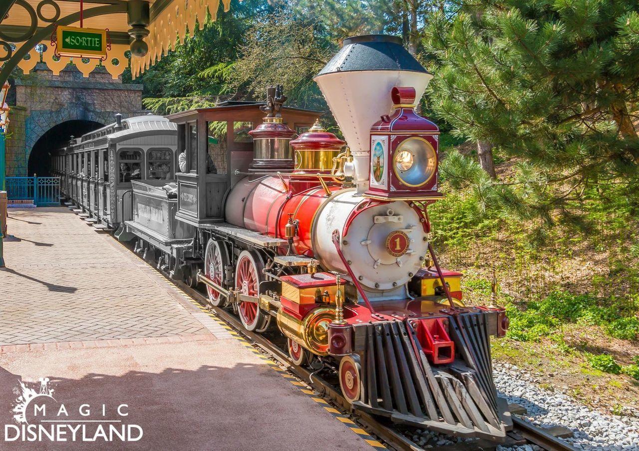 Disney Disneylandparis Waltdisney Disneyland Disneyland Resort Paris Disneyland Paris Outdoors Multi Colored Railroad Station Nature Travel