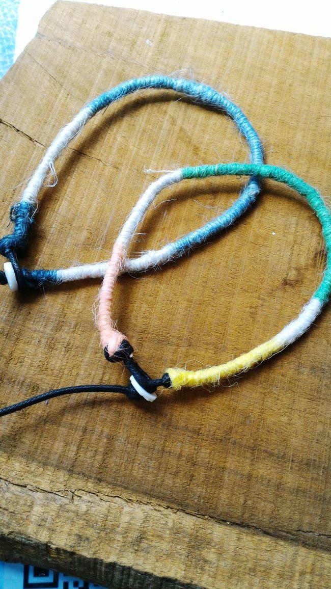 客製腳環。麻繩編 Handmade