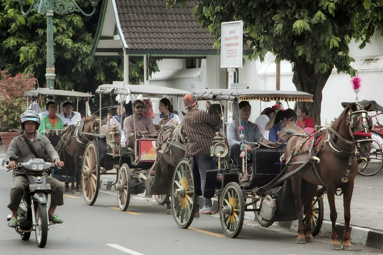 Transportation Building Exterior Mode Of Transport Outdoors Architecture People Adults Only Day Large Group Of People Horse Only Men Yogjakarta City Tourism Delman INDONESIA