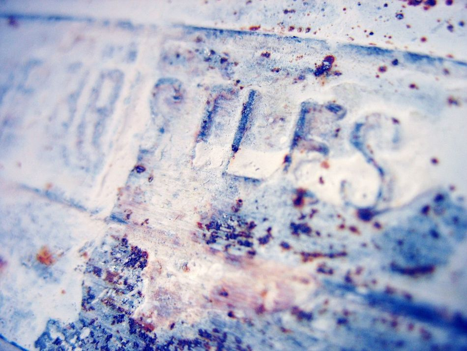 Brush Bristles Metal Corrosion Paint White Old Texture Macro Close-up Pattern No People Day Text