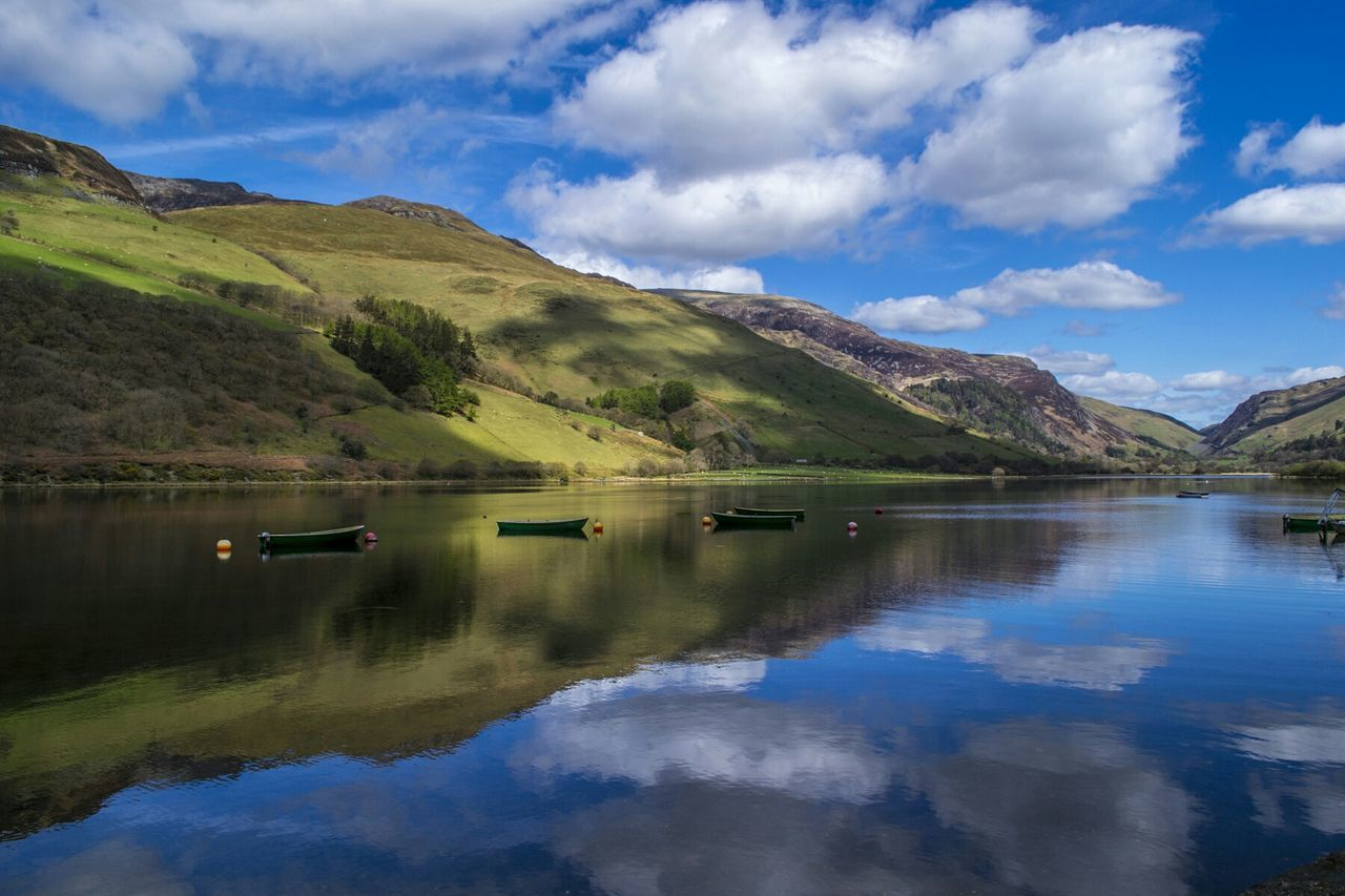 Wales Lake Water Reflections Landscape_Collection Sky