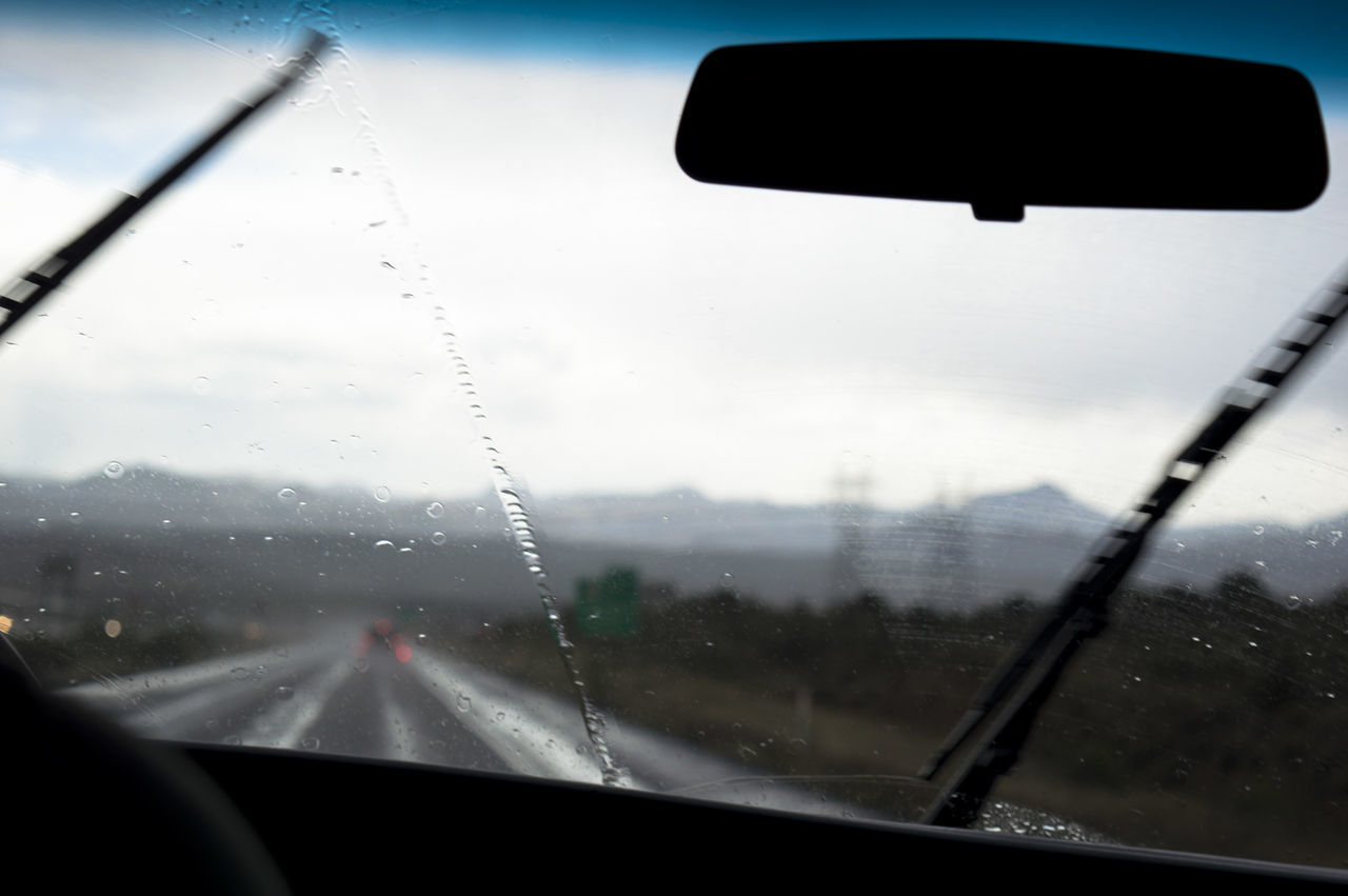 Rain Drops Driving Travel Photography Journey Check This Out Rear View Mirror Wipers Road Trail Lights Brake Lights Bokeh Photography
