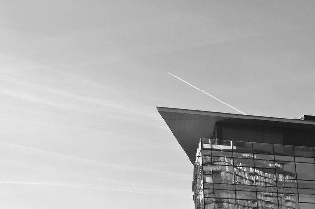 Sharp architecture. The Architect - 2016 EyeEm Awards Modern Architecture Architectural Detail Design Black And White Vapor Trail Points Eye4photography  Salford Quays Modern Buildings Architecture EyeEm Gallery Architecture Details Architecture_bw EyeEm Building Exterior Getty X EyeEm This Way EyeEm Best Shots Check This Out Popular Photo Mediacityuk