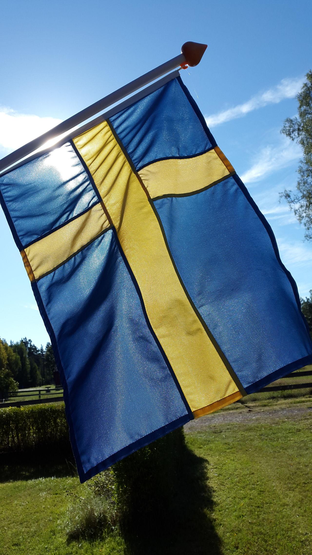 Blue Cloud Day Eriksmala Journey Marknadsvägen Multi Colored No People Outdoors Sky Sun Light Swedish Flag Tourism Yellow