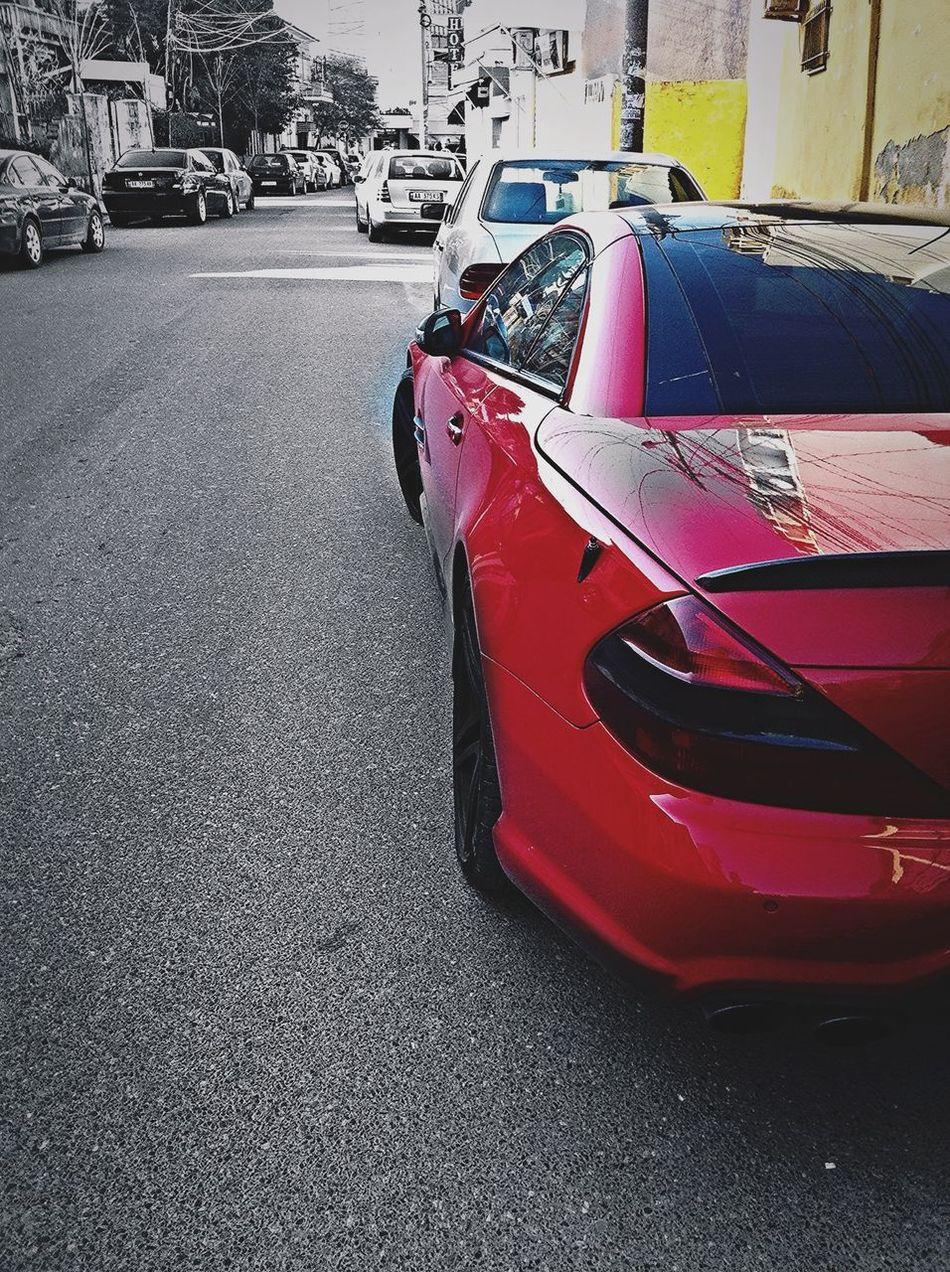 Mercedes Mercedes-Benz Red Splash Color Splash Tirana Albania Sentosa Faded Sl Amg