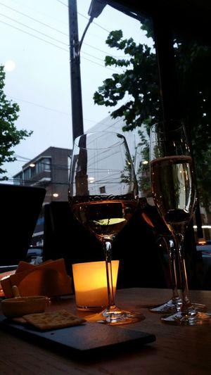 Wine rainy night