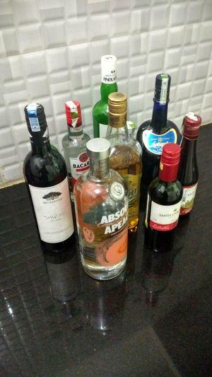 Bottle Colorful Friends Party Run Vodka White Rum Wine