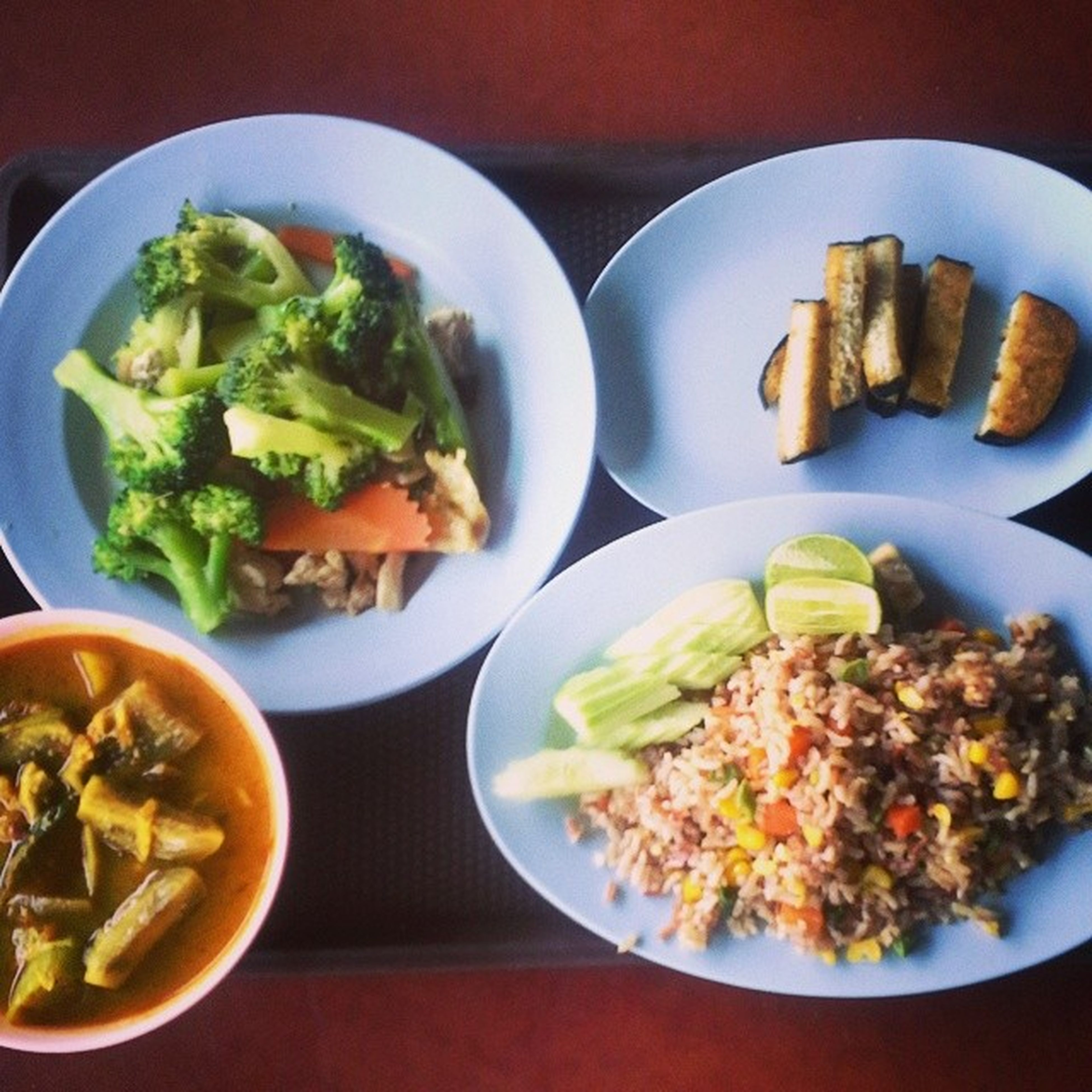 Attention vegetarians: In Thailand, just look for the red and yellow signs that say เจ 'jear'. Vegan Thai food heaven, yo...