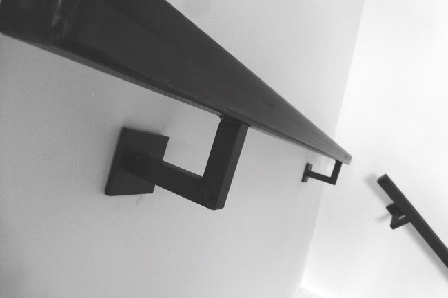 M10b Steel Stairs Home Sweet Home Home Blackandwhite Black & White Home Interior Interior Design Black&white
