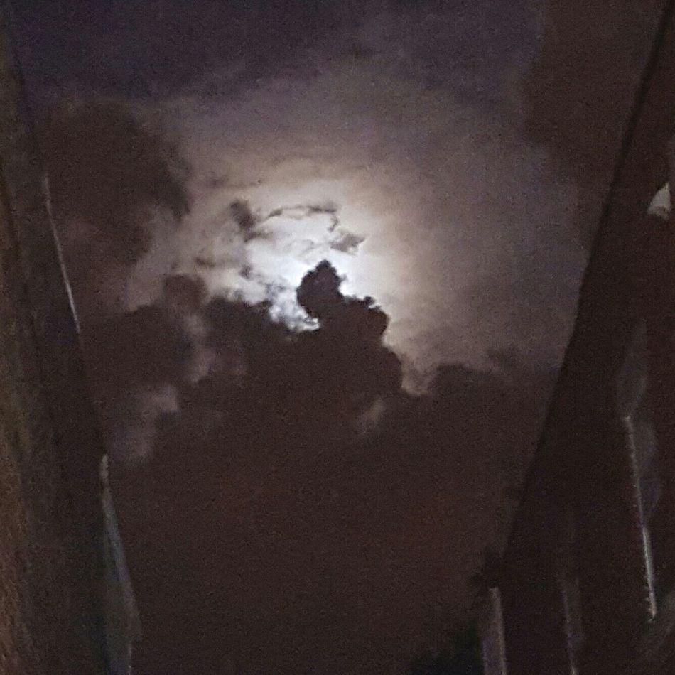 Night sky Eerie Beautiful Night Night Sky Moon Moonlight Purple Moon