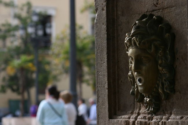Bronze Bronze Head Drinking Water Fountain Fountain Old City Old Fountain Sculpture Street Photography Water Fountain Fine Art Photography