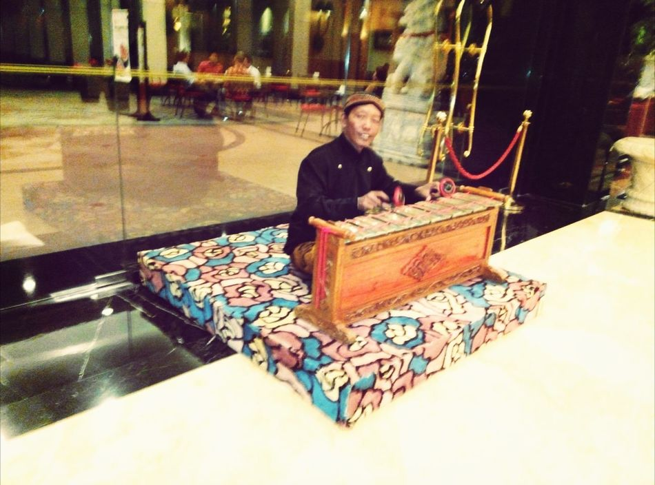 Javanese gamelan player