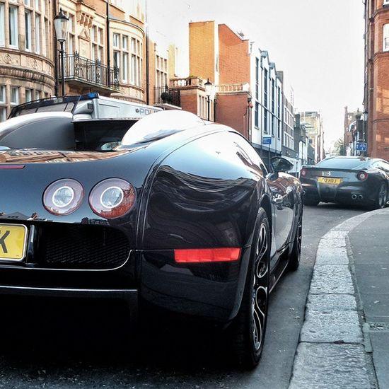 Bugatti Veyron Londoncars Carspotting SupercarsofLondon Supercar Ferrari F12 Berlinetta Combo London