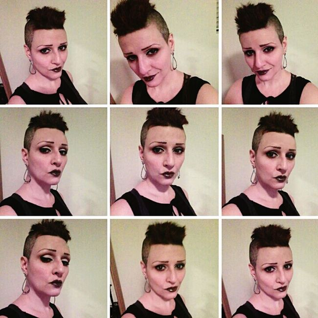 Queen of the wild frontier. Self Portrait That's Me! Collage Front View Head And Shoulders Human Face Happy Confident  Carefree Women Mohawk Punk Rock Celebrate Individuality Fashion Lifestyles 40 Is The New 20 Young At Heart Eye4photography  From My Point Of View Orlando