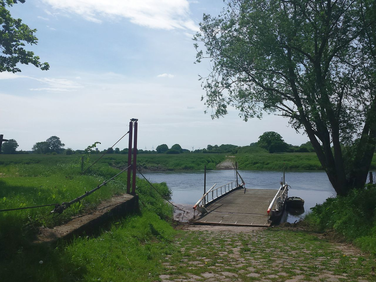 Old Ferry Alte Fähranlage űber die Aller River View Riverside River Landscape Landscape_photography Riverside View Green Nature Landscapes Ladyphotographerofthemonth The Essence Of Summer Ancient Ferry Crossing Station Trees And Bushes Trees And Water Branches And Leaves