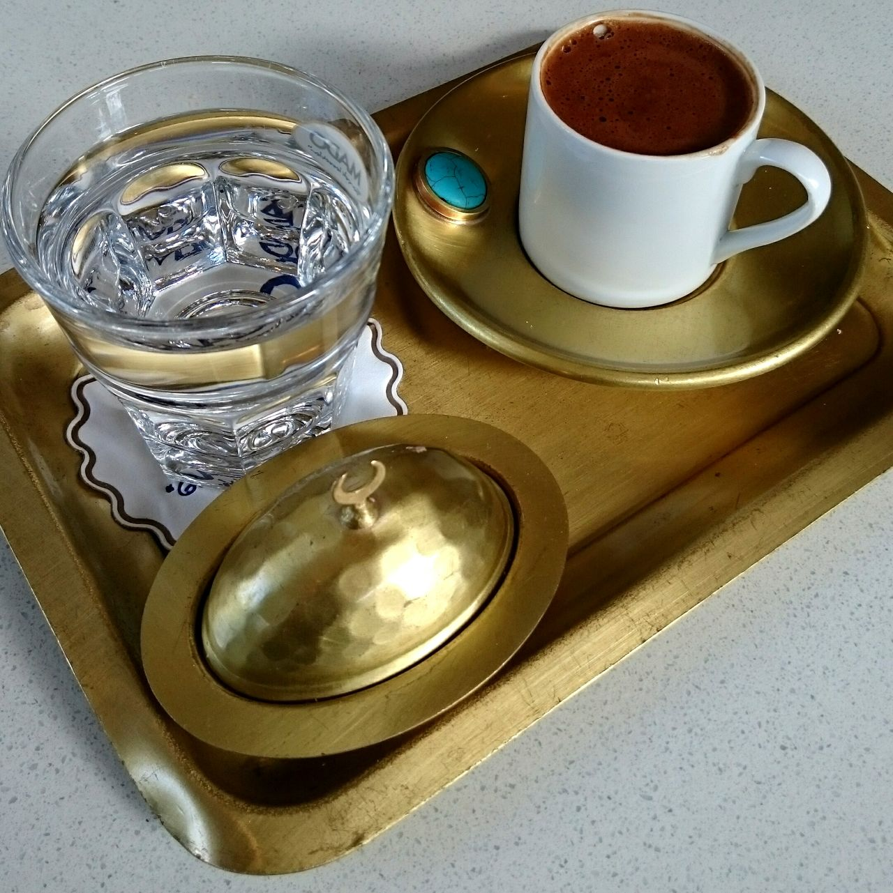 Turkish Coffee Coffee Water Cup Tray Winter2015 After Lunch Drinking Coffee Nofilter Noedit