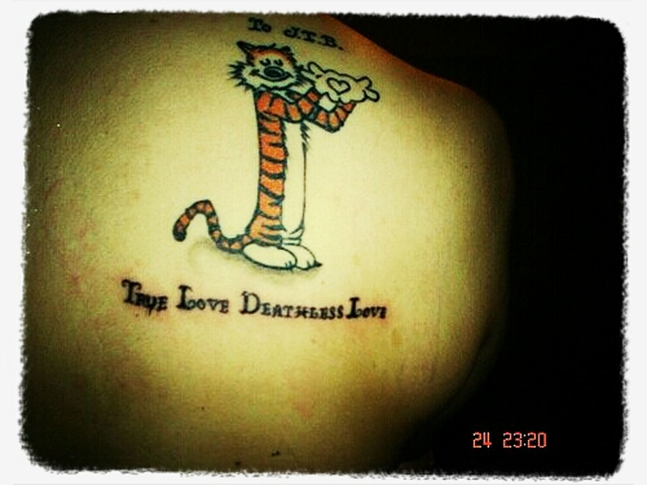 True Love Deathless Love Hobbes Back Tattoo