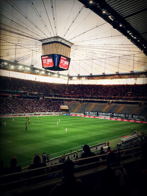 Watching football at Eintracht Frankfurt Museum by Zeny