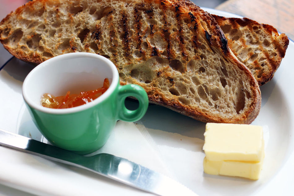 Homemade marmalade with toast Bread Breakfast Butter Close-up Day Food Food And Drink Freshness Healthy Eating Indoors  Marmalade Morning No People Plate Ready-to-eat SLICE Table Toast Toasted Toasted Bread Toast🍞