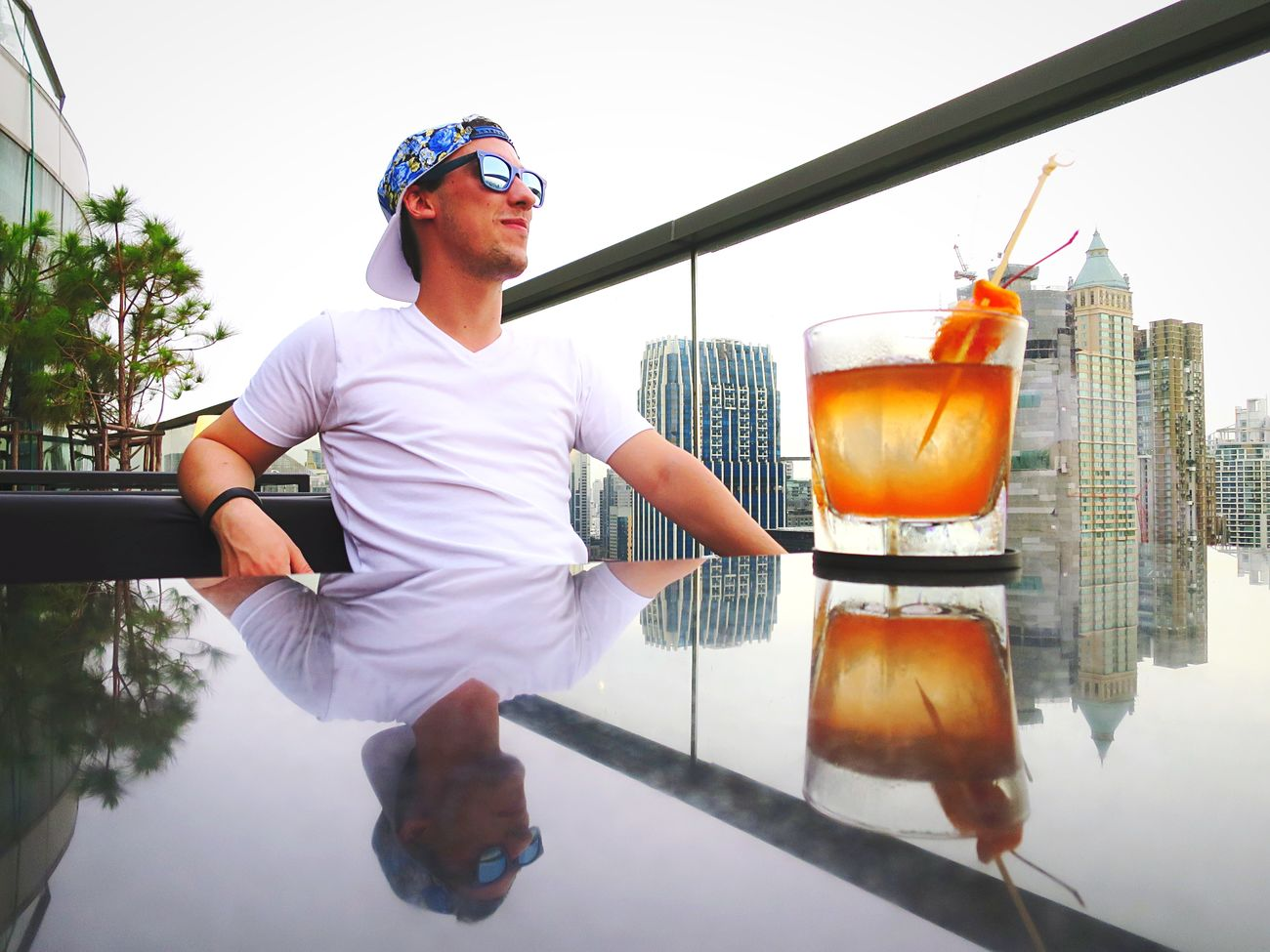 Looking over the city with an old fashioned, reflecting on the past, present and future. New photos coming soon. Open Edit Bangkok Sky Bar That's Me Thailand Hanging Out Drinking Chilling Fashion Forever Embrace Urban Life