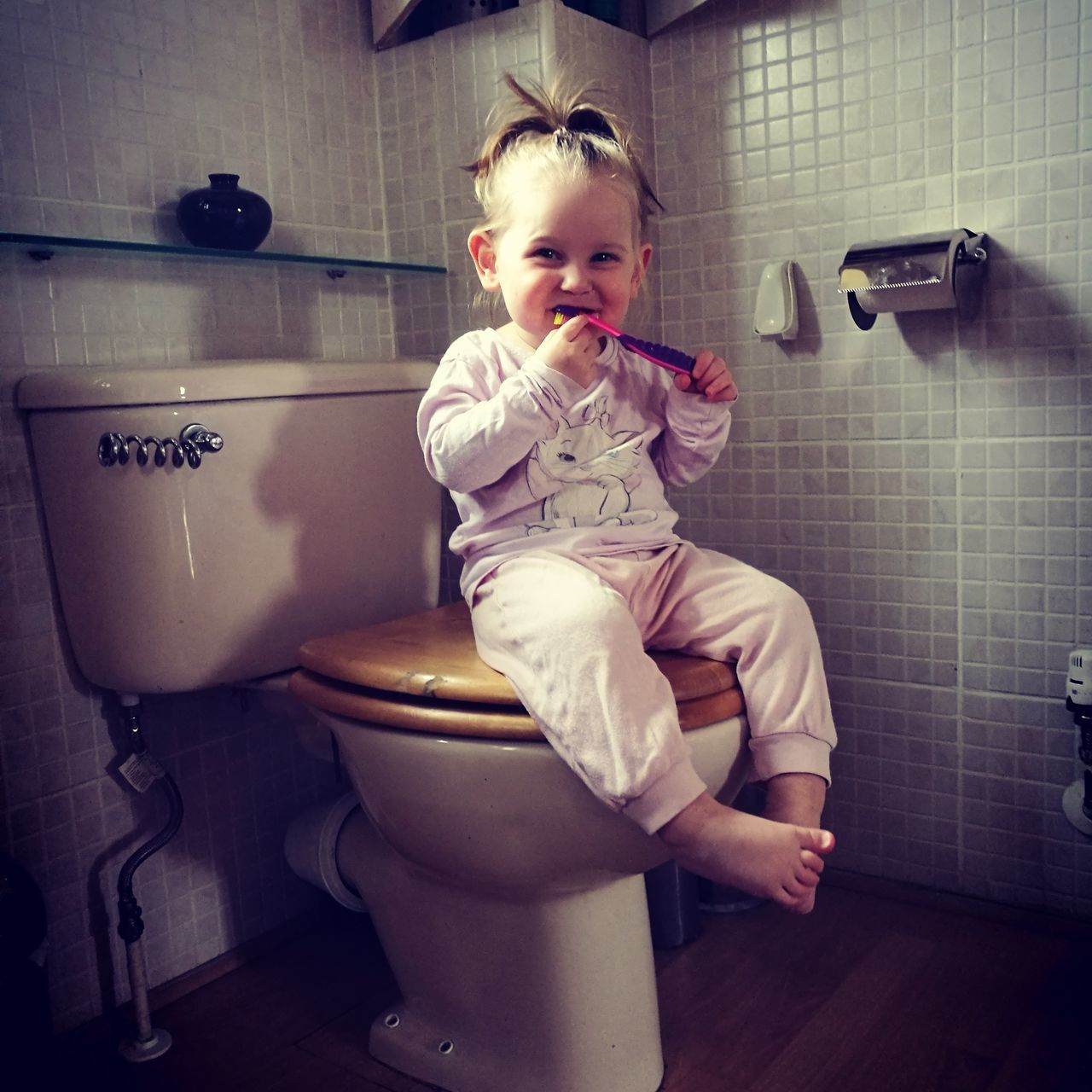 Baby Sitting Bathroom Indoors  One Person Full Length People Babies Only Day Toilet Bowl Brushing My Teeth EyeEmNewHere Child Smiling Lifestyles Happiness Relaxation Real People Beauty Mygirls♡ My Love Cheerful EyeEmNewHere