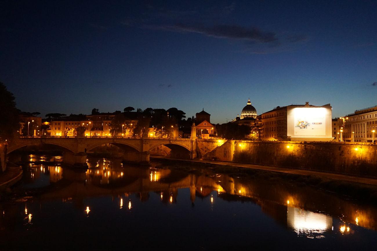 Trip Italia Rome Pontesanangelo Night Sony A5100