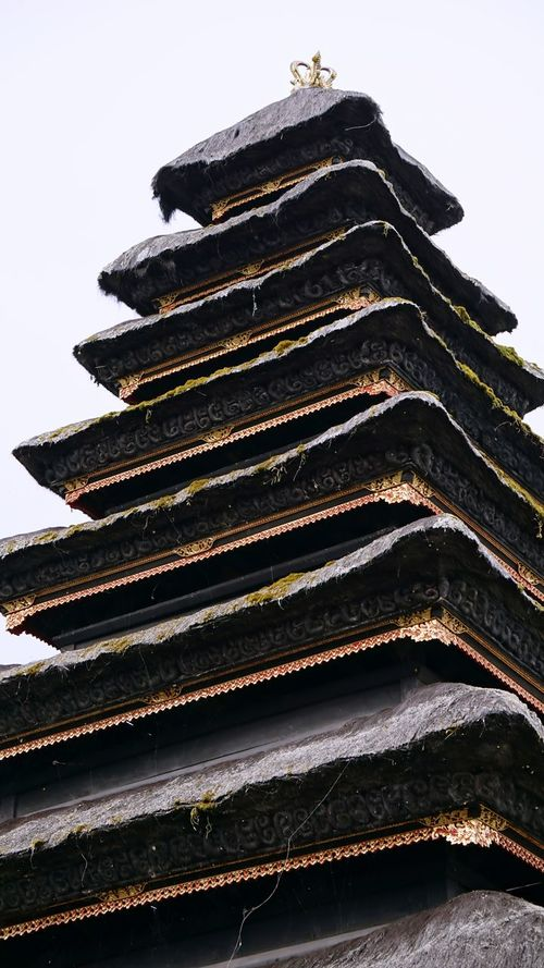 No People Outdoors Day Nature Roof Temple Roof Sky ASIA Bali, Indonesia Vertical