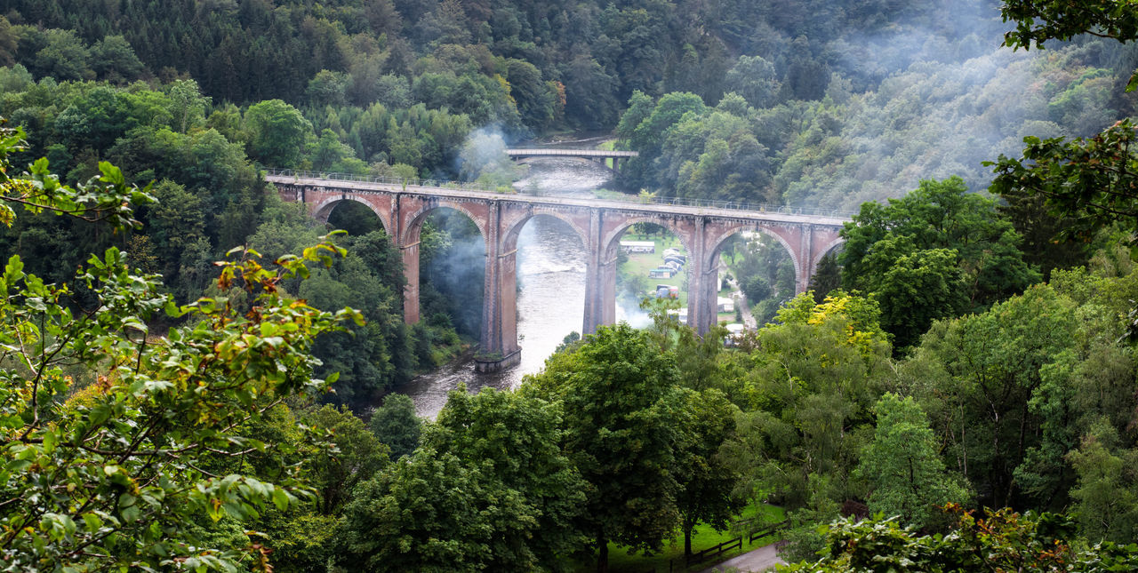 Ardenne Ardennes Barbecue Bridge Pont River Riviere Semois Smoke Summer Train Viaduct Woods