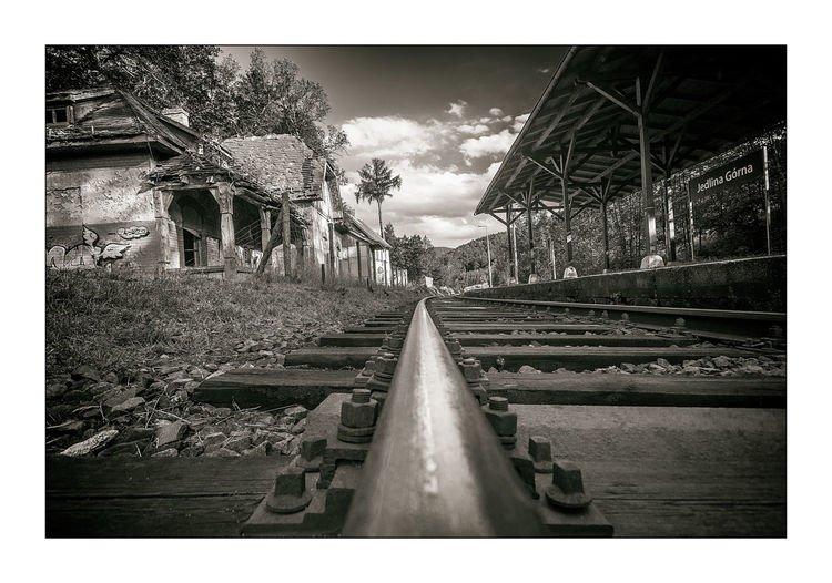 Black & White Old Buildings Rail Raillway Railroad Station Raliway Ruined Ruined Building Ruins Ruins Of Station EyeEm Selects