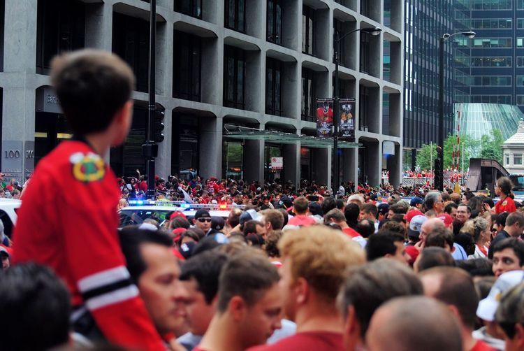 Chicago Chicago Blackhawks Blackhawksparade Chicago Sports Taking Photos Iphone6s Urbanphotography Street Photography Iphonephotography Iphonography IPhone Theloop EyeEm IPhoneography In The Moment Parade Rally