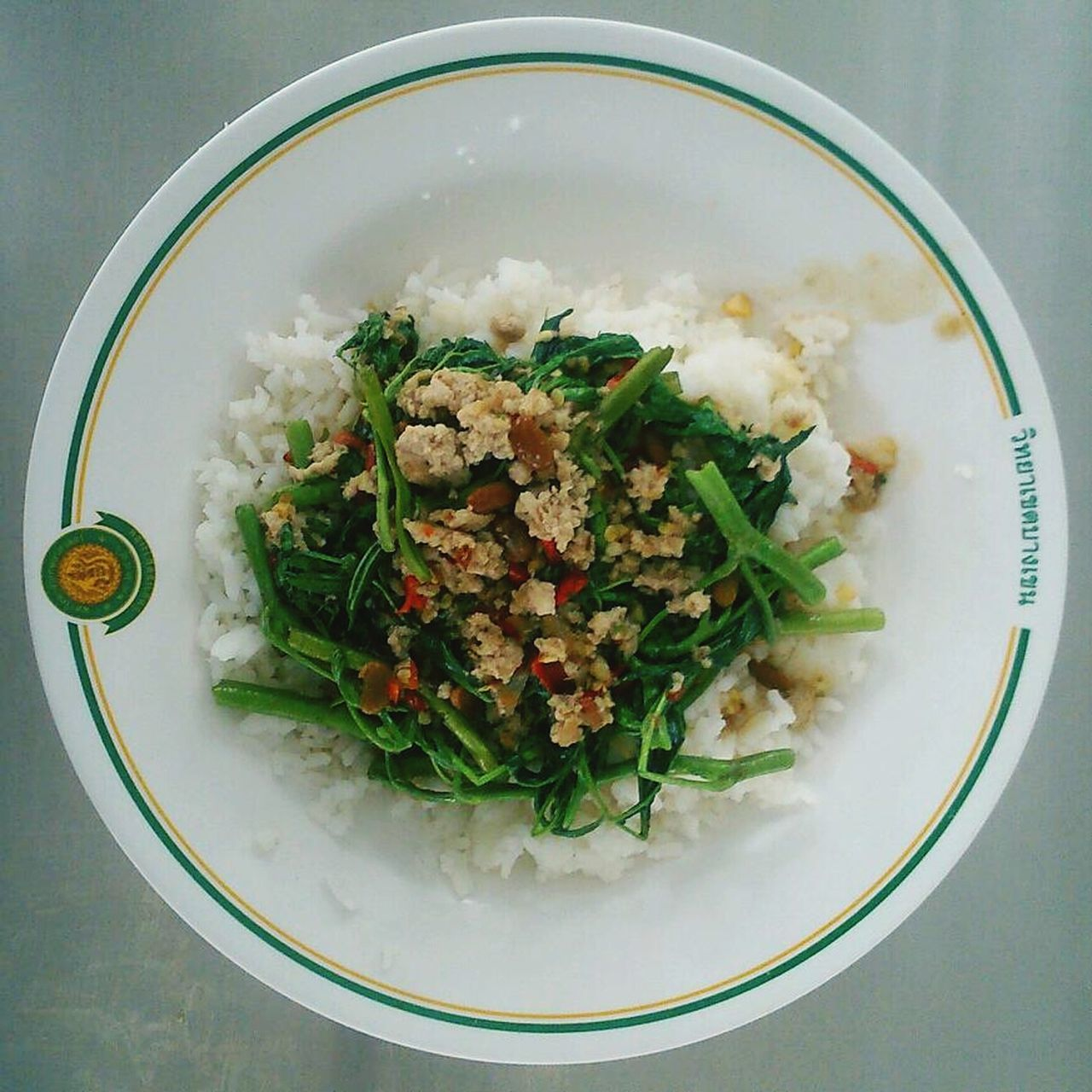 Thai Common Food is Fired Vegetables with meat.