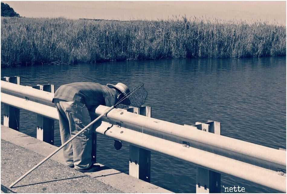 Modified Black And White People And Places Bridge Fisherman Blackwater National Wildlife Refuge Picsartrefugees Picsart_family
